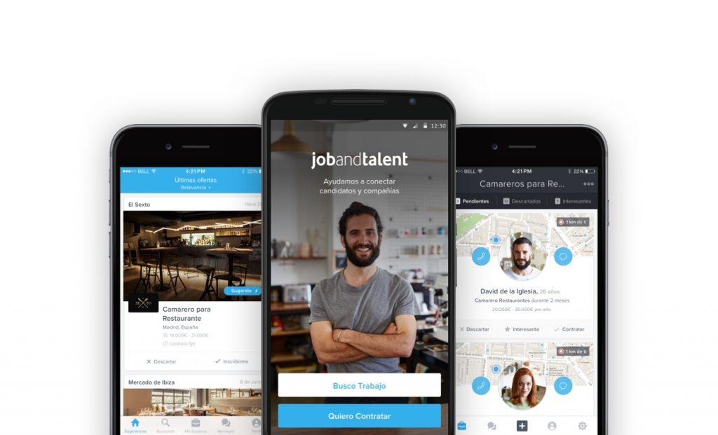 Aplicación para buscar trabajo de JobandTalent