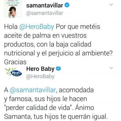 Tweets Hero Baby Samanta Villar