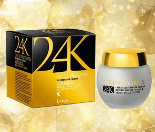 Envases de crema de noche línea 24 Gold Mercadona