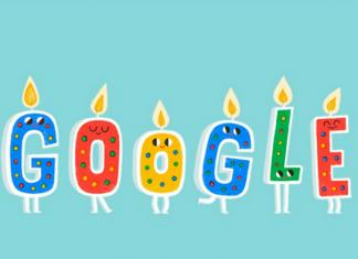Google con velas