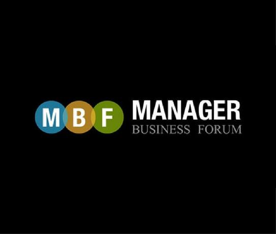 manager business forum con letras y fondo negro