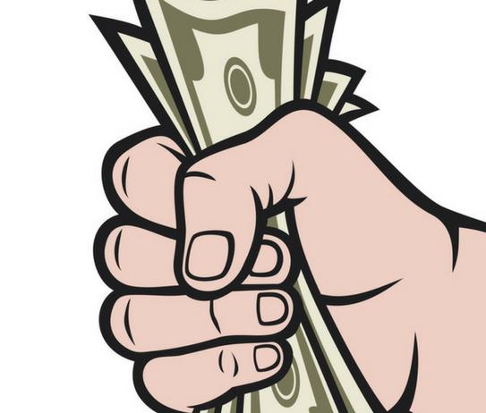Billetes verdes en una mano