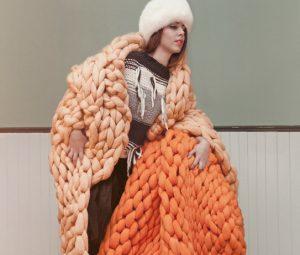 Diseño elaborado con lana merina de la plataforma Made in slow