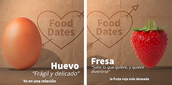 Huevo y fresa en #FoodDates